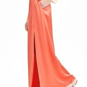 Banana Republic Silk Coral Maxi Skirt